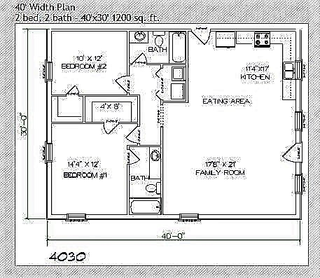 Floor Plans Texas Barndominiums 30 × 40 north face house plan map naksha with walk through. texas barndominiums