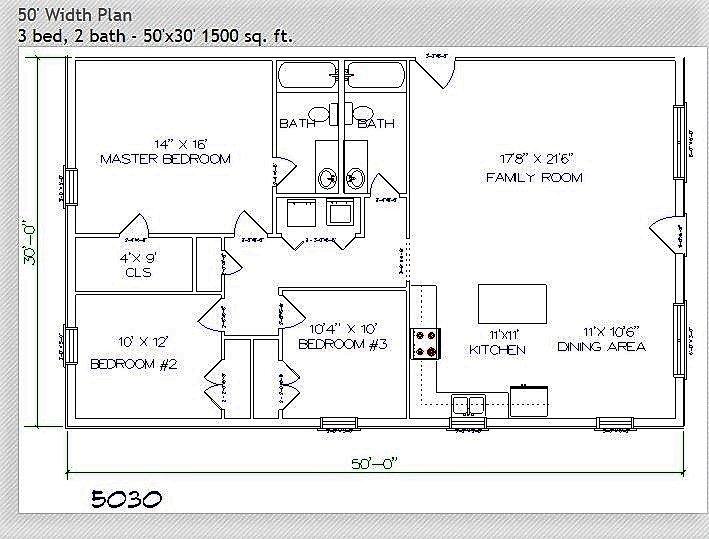 4 Bedroom House Plans Open Floor 1700 Sq Ft